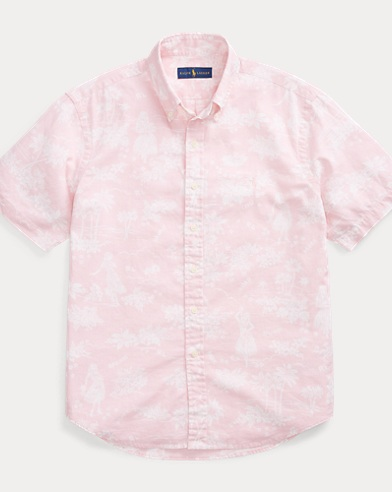Classic Fit Luau-Print Shirt