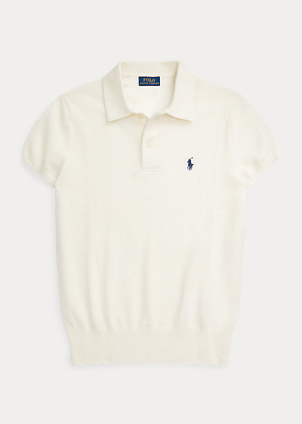 Polo Ralph Lauren Ribbed-Hem Cashmere Polo Shirt