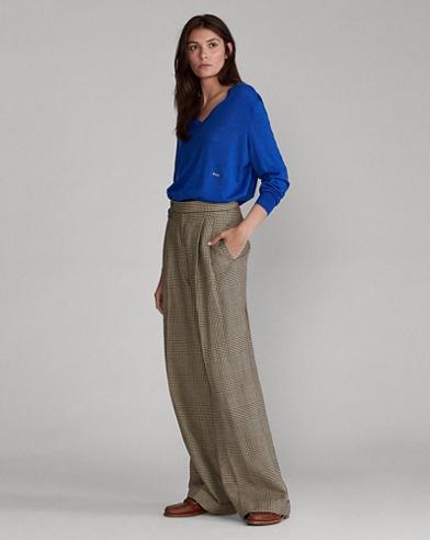 Cotton-Blend Trouser