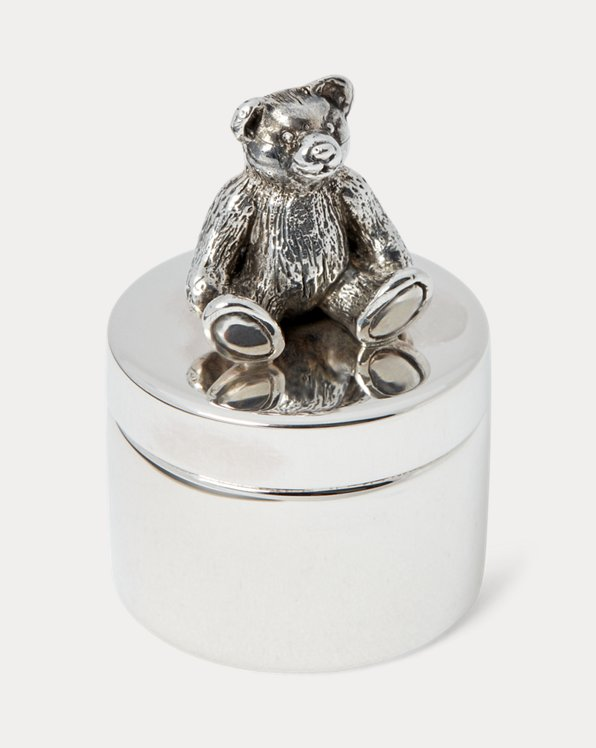 Bear Sterling Silver Tooth Box