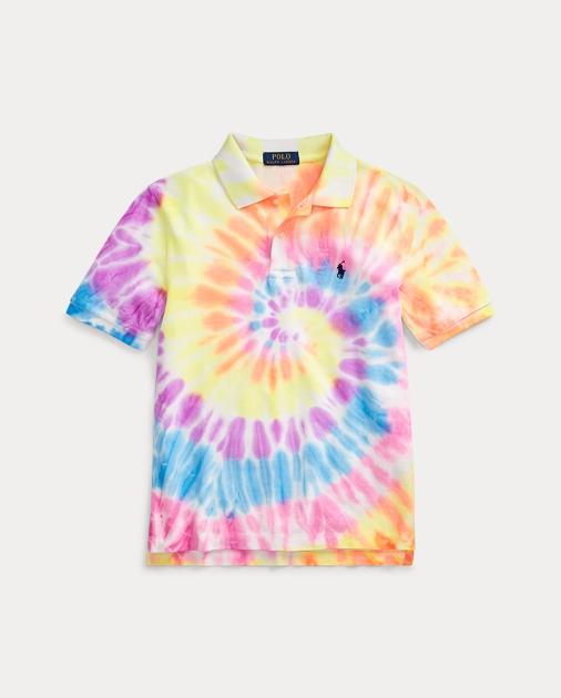 7561e85f46 Tie-Dyed Cotton Mesh Polo