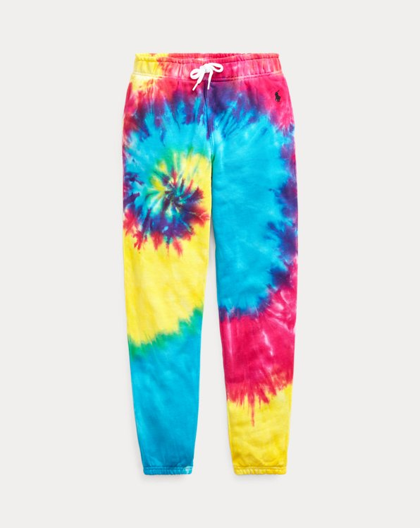 Tie-Dyed Cotton Terry Trouser