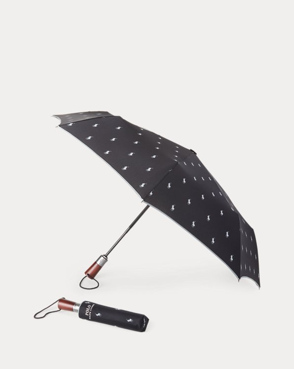 Striped Collapsible Umbrella
