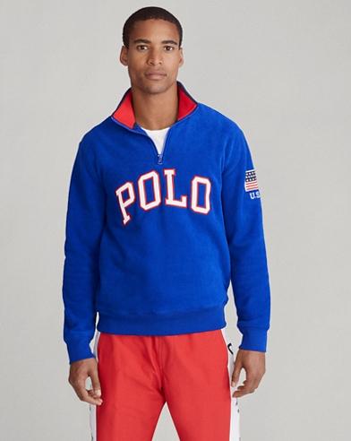 Sweat Polo demi-zippé