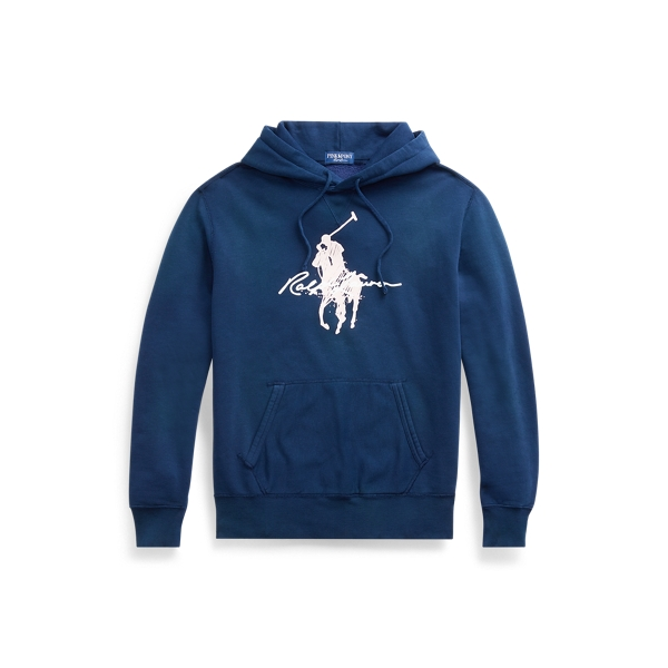 폴로 랄프로렌 Polo Ralph Lauren Pink Pony Fleece Hoodie,Newport Navy