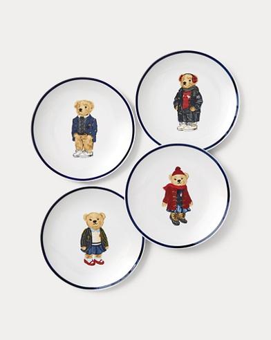 Polo Bear Canape Plate Set