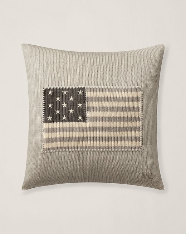 RL Flag Throw Pillow