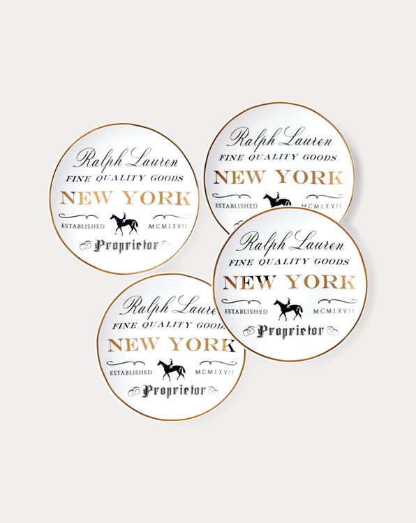 New York Canape Plate Set