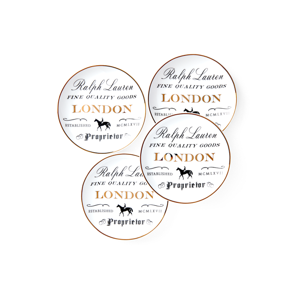 London Canape Plate Set