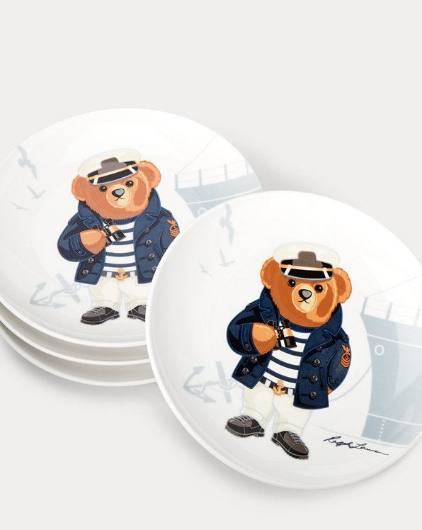 Haven Navy Bear Dessert Plates