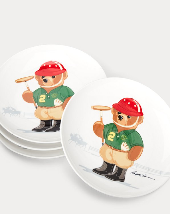 Haven Polo Bear Dessert Plates