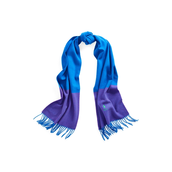 Polo Ralph Lauren Color-Blocked Wool Scarf