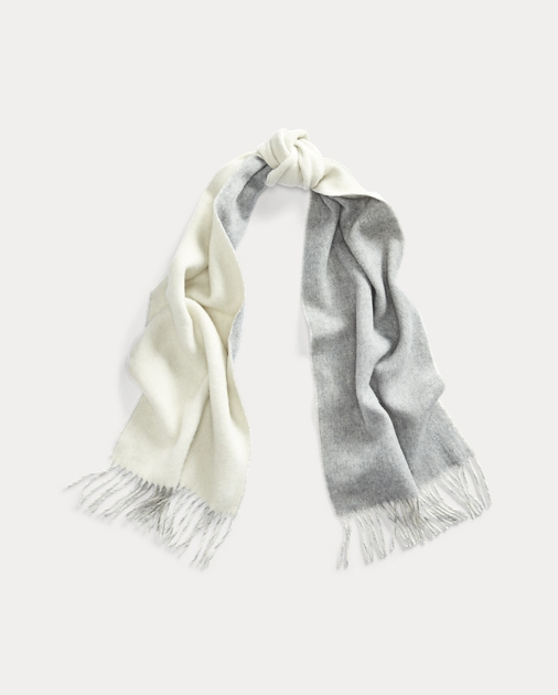 Polo Ralph Lauren Double-Faced Wool-Blend Scarf 1