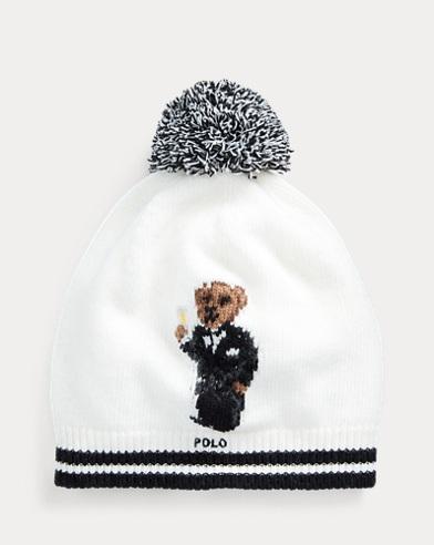 Tuxedo Bear Wool-Blend Hat