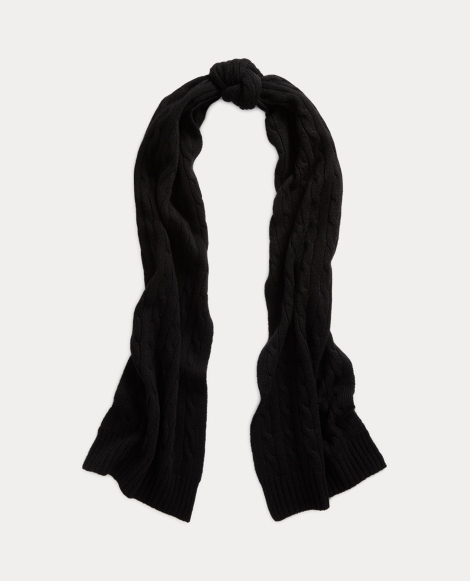 Cashmere Cable-Knit Scarf