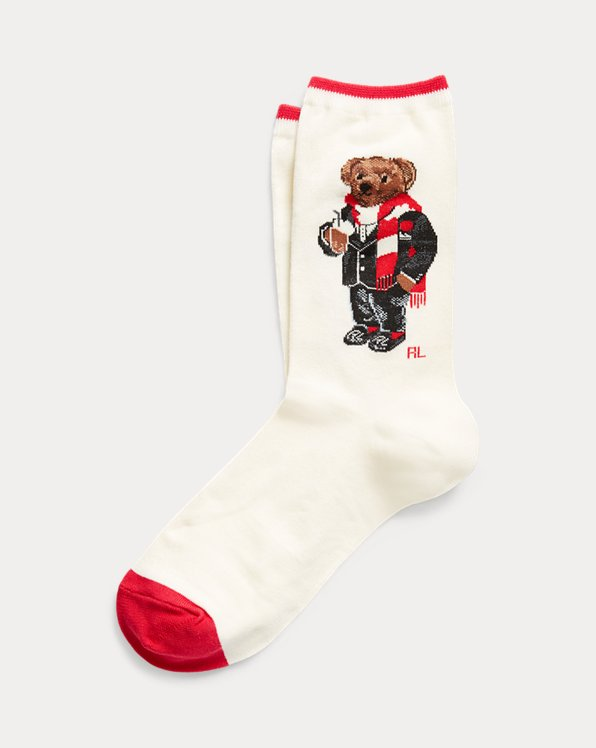 Hot Cocoa Bear Trouser Socks