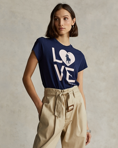 T-Shirt Live Love mit Pink Pony