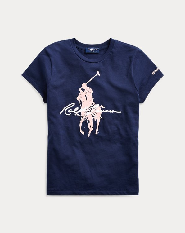 Maglietta a girocollo in jersey Pink Pony