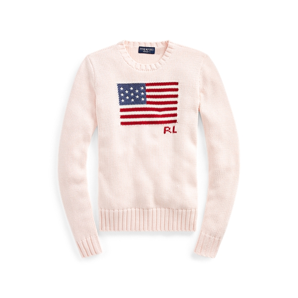 Pink Pony Flag Cotton Jumper