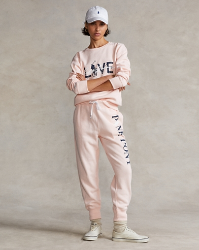 Pink Pony Fleece Tracksuit Bottoms