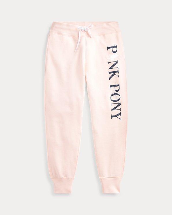 Pink Pony Fleece Tracksuit Bottoms