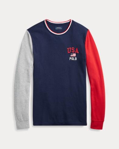 USA Waffle-Knit Sleep Shirt