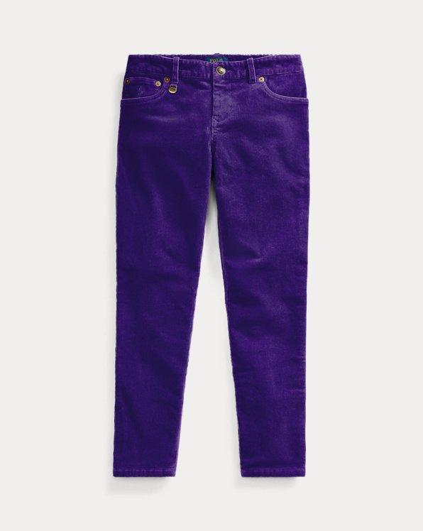 폴로 랄프로렌 걸즈 바지 Polo Ralph Lauren Stretch Skinny Corduroy Pant,Purple Rage