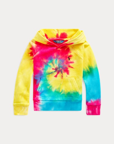 Tie-Dyed Cotton Terry Hoodie