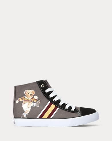Bear Canvas Hi-Top Trainer