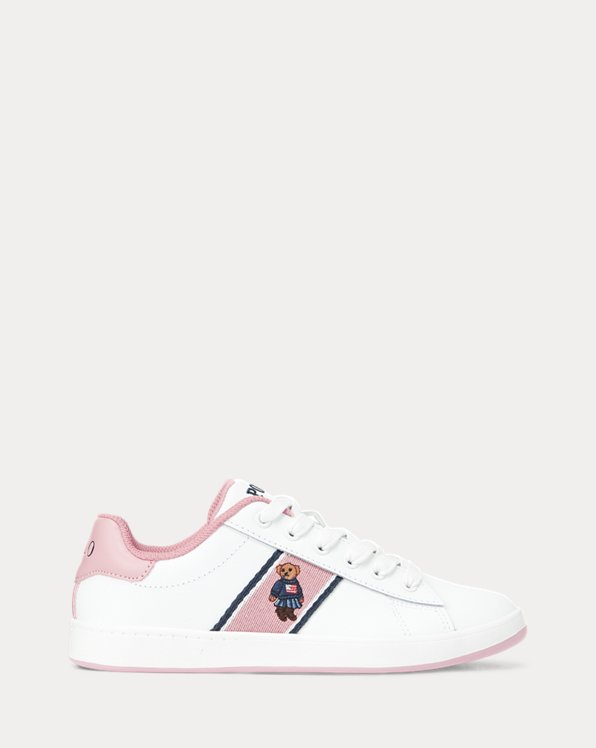 Quilton Bear Leather Trainer