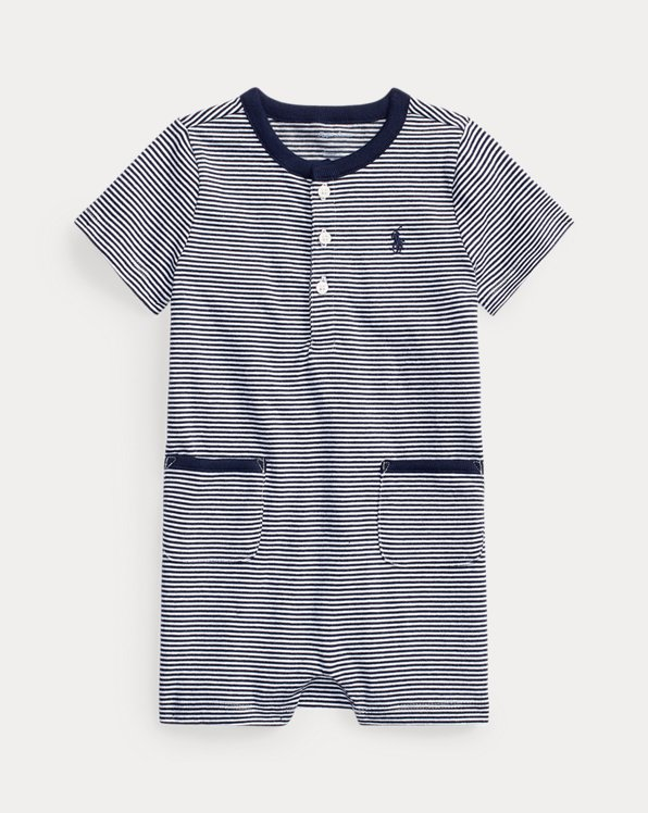 Striped Cotton Henley Shortall