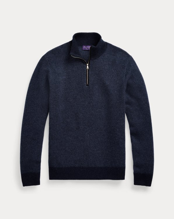 Cashmere Quarter-Zip Sweater
