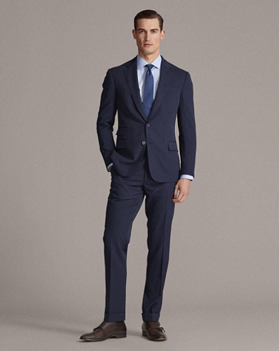 Striped Wool Gabardine Suit