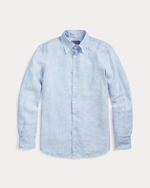Striped Linen Chambray Shirt