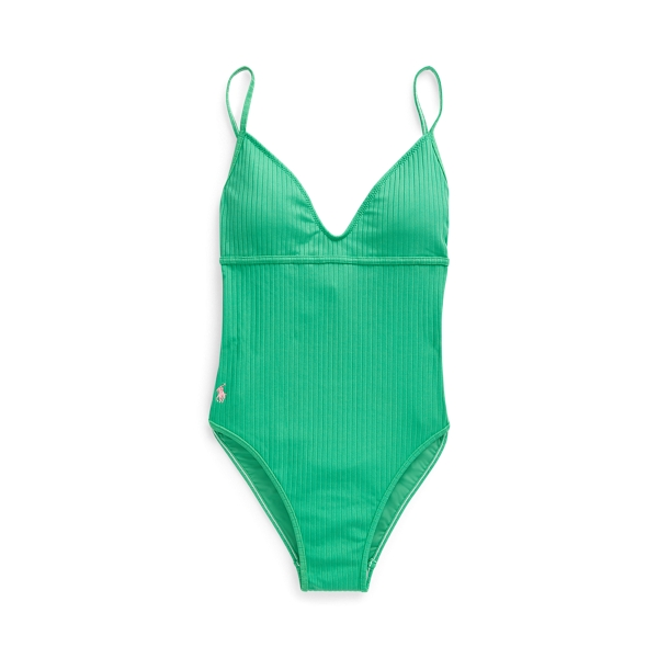Polo Ralph Lauren Ribbed One-Piece Swimsuit