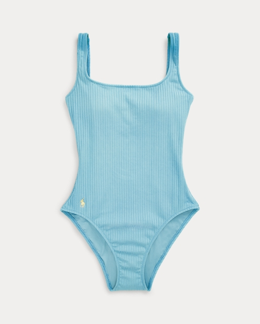 Polo Ralph Lauren Ribbed Scoopback One-Piece 2
