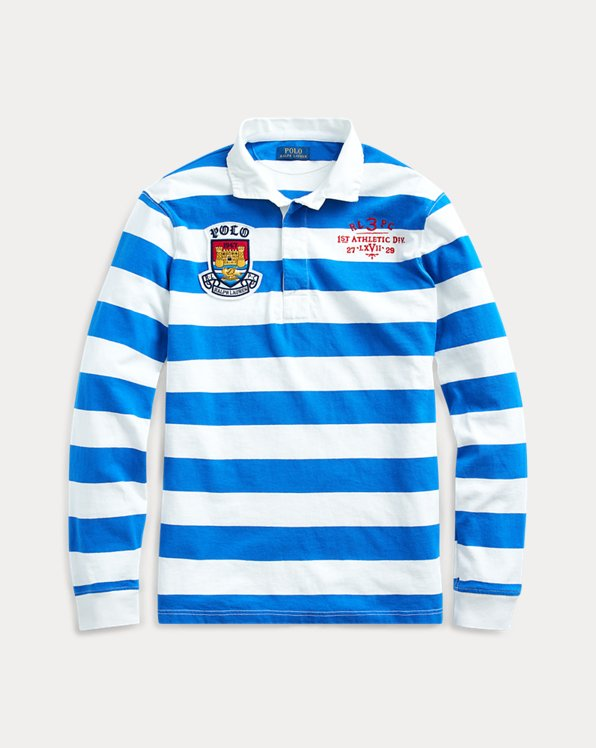 Camicia rugby a righe Classic-Fit