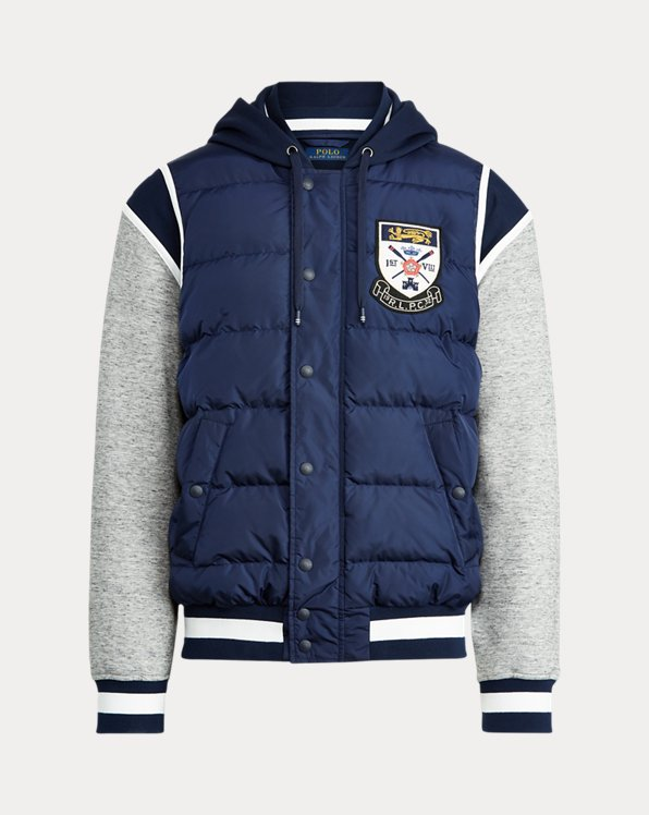 Down-Panelled Baseball Jacket