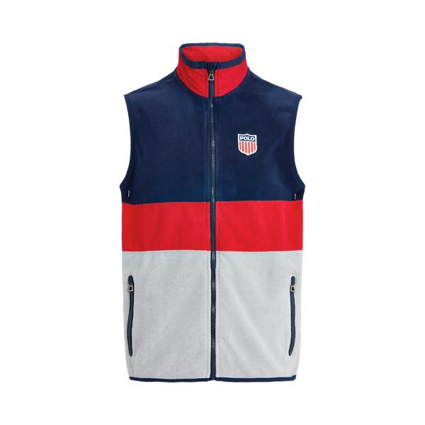 폴로 랄프로렌 Polo Ralph Lauren Polo Shield Fleece Vest,Andover Heather Multi