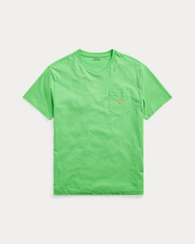 폴로 랄프로렌 Polo Ralph Lauren Classic Fit Pocket T-Shirt,New Lime