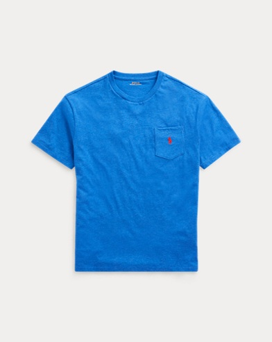 폴로 랄프로렌 Polo Ralph Lauren Classic Fit Pocket T-Shirt,Dockside Blue Heather