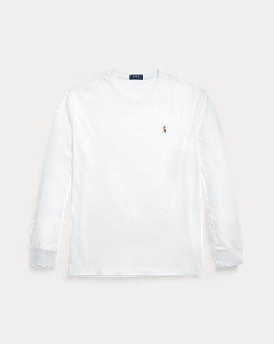 폴로 랄프로렌 티셔츠 Polo Ralph Lauren Custom Slim Soft Cotton Tee,White
