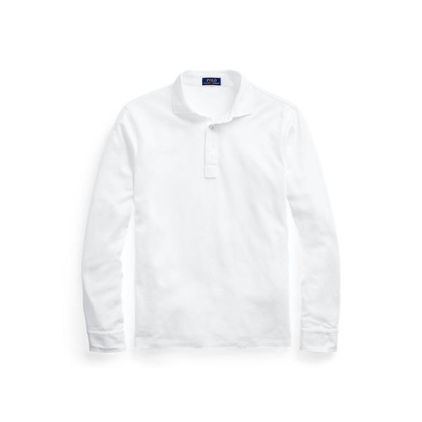 폴로 랄프로렌 Polo Ralph Lauren Custom Slim Stretch Mesh Polo,White