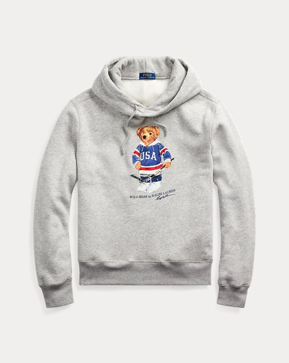 Hockey Bear Fleece Hoodie