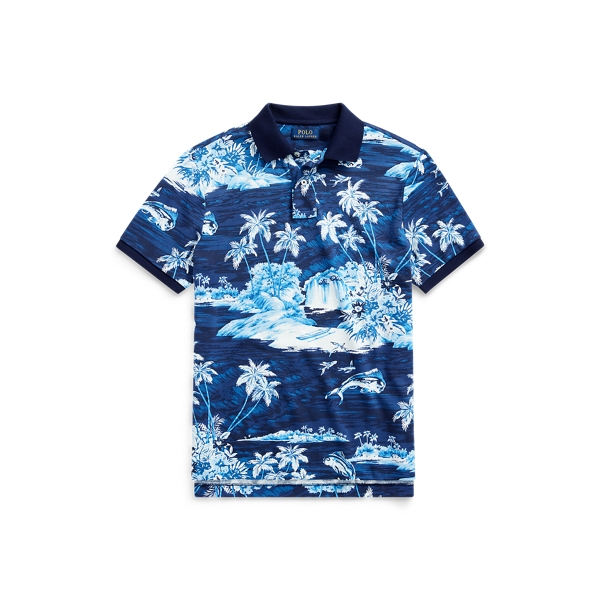 폴로 랄프로렌 Polo Ralph Lauren Classic Fit Tropical Mesh Polo,Flying Fish