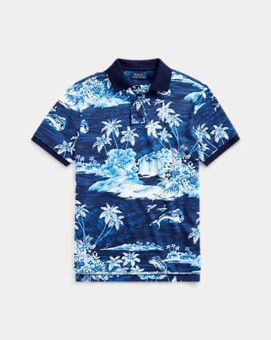 Classic Fit Tropical Mesh Polo