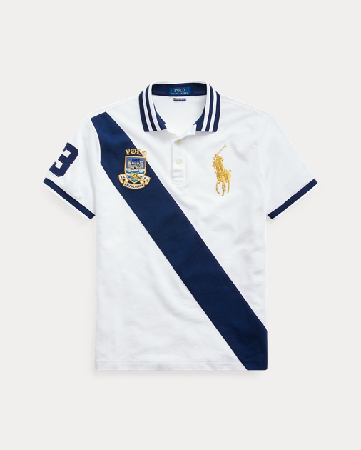 Ralph Lauren Limited Edition Stripe Custom Slim Fit Polo T Shirt