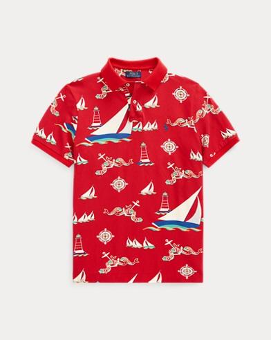 Classic Fit Nautical Mesh Polo