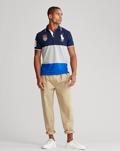 Color-Blocked Big Pony Polo Shirt - All Fits