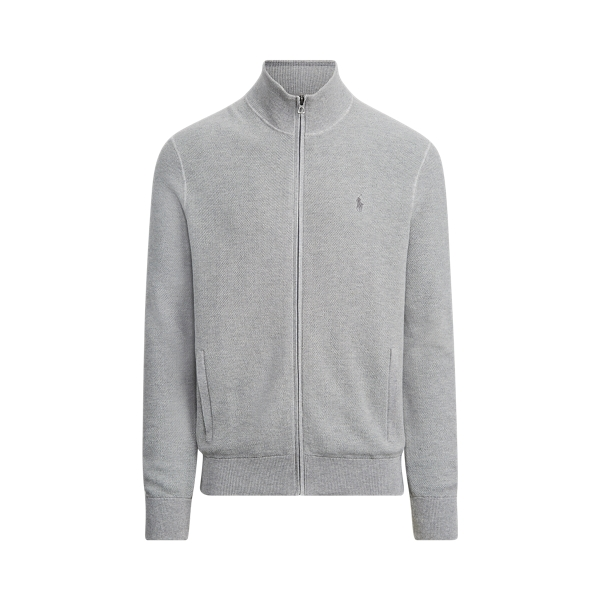 폴로 랄프로렌 Polo Ralph Lauren Cotton Full-Zip Sweater,Andover Heather